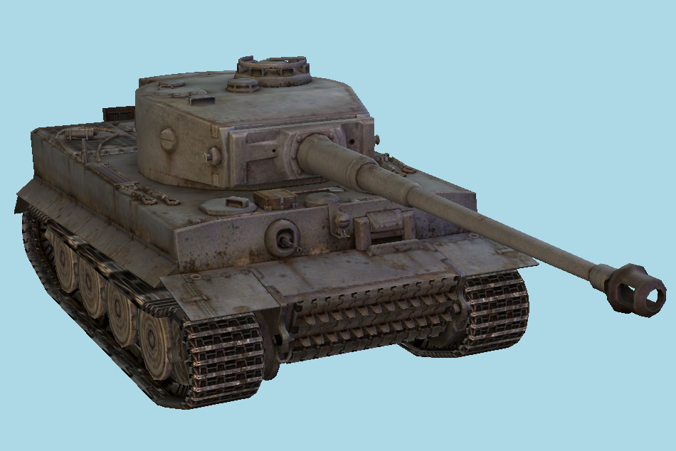 Tiger I Heavy Tank 3d model