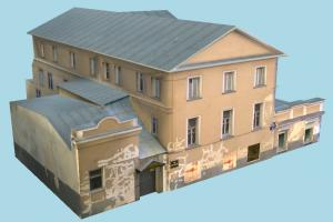 House Building house, home, building, hotel, governmental, university, city, build, apartment, flat, residence, domicile, structure, lowpoly