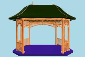 Summer House pavilion, tent, summer, small, house, home, build, structure