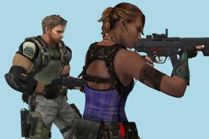 Resident Evil 5 Sheva and Kris characters