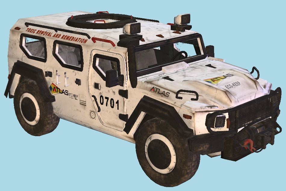 Advanced Warfare Gaz Turretless Jeep 3d model
