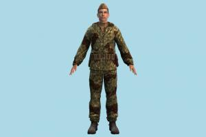 Army Man army-man, soilder, army, diver, man, male, people, human, character