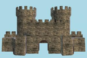 Castle Gate castle, tower, dungeon, cave, house, building, build, domicile, structure
