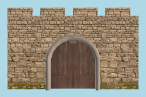 Wall Gate gate, wall, door, castle, tower, building, build, structure