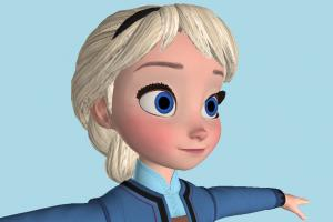 Kingdom Hearts 3 - KH3 Elsa Young Girl