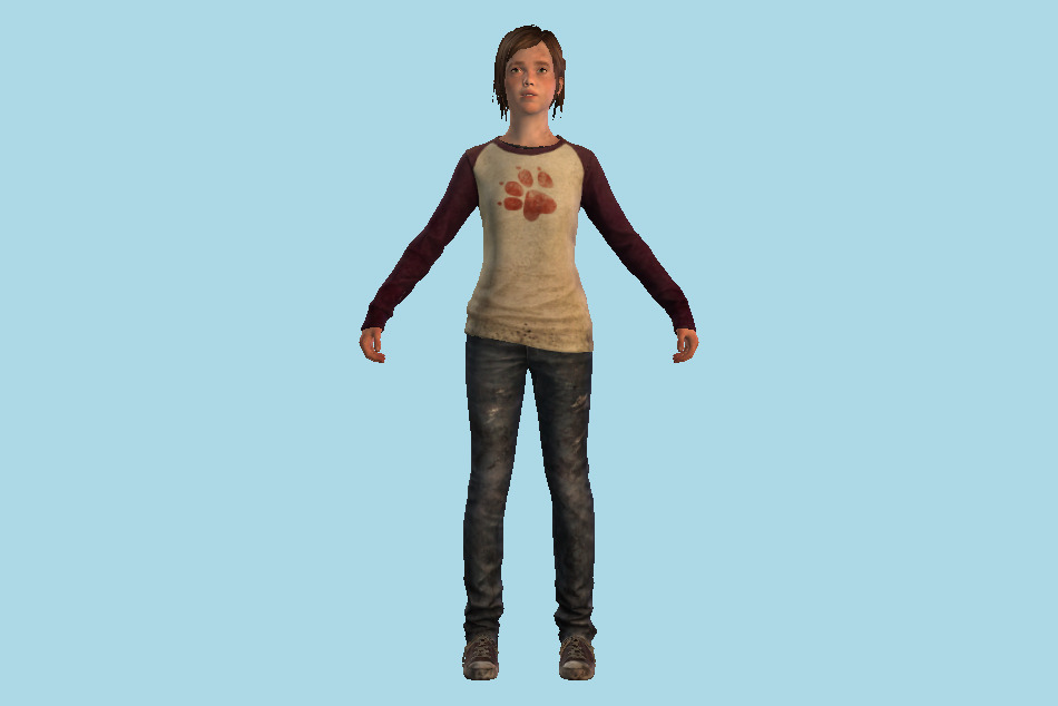 The Last Of Us - TLOU Ellie 3d model