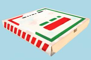 Pizza Box pizza-box, pizza, box, food, foods, delivery, lowpoly