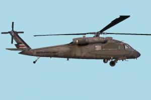 Helicopter UH60 High-poly helicopter, aircraft, plane, fly, vessel, transit