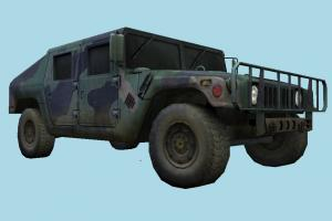 Left 4 Dead 4 Hummer Military Jeep Car