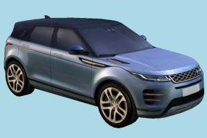 Range Rover range-rover, land-rover, 4x4, suv, european, luxury, evoque, crossover, 2020, lowpolly, offroad, car, vehicle, carriage, transport