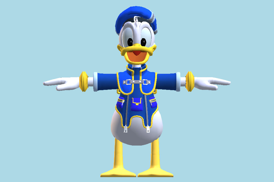 Kingdom Hearts 2 - Donald Duck 3d model