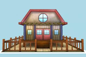 House house, home, building, build, cartoon, residence, domicile, structure