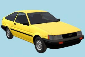 Toyota Corolla AE85 toyota, car, vehicle, transport, carriage