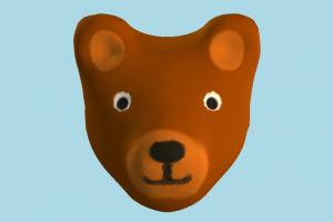 Bear Head head, face, teddy, bear, animal, animals, cartoon