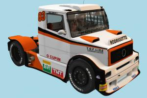 Truck with Interior Interior, car, truck, racing, vehicle, carriage
