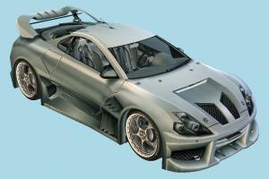 Cyborx Car racing, car, speed, race, fast, vehicle, carriage, high-poly