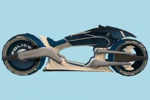 Future Police Bike motorbike, bike, motorcycle, police, future, motor, cycle, sport, sportive, speed, fast, racing, race