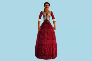 Liza Girl woman, girl, female, princess, lady, people, human, character, cartoon, lowpoly