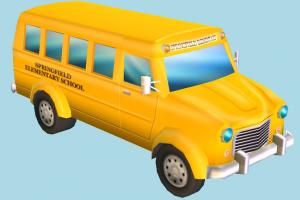 School Bus bus, school, van, car, vehicle, truck, carriage, metro, transit, toon