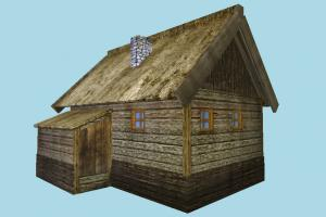 Old Hut hut, cottage, shanty, shack, cabin, small, house, home, farm, country, lowpoly