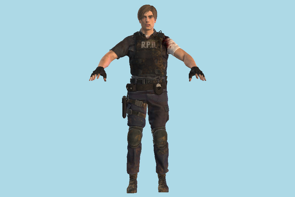 Resident Evil Leon 3d Model