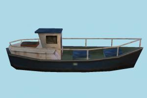 Boat yacht, boat, sailboat, watercraft, ship, vessel, sail, sea, maritime, lowpoly