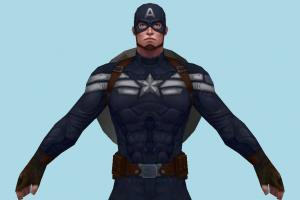Marvel Future Fight Hero Steve Rogers Captain America (Winter Soldier)