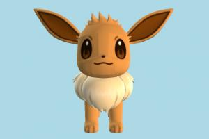 Eevee pokemon, digimon, rabbit, animal, animals, cartoon
