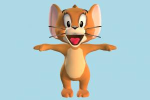 Jerry tom-and-jerry, mouse, squirrel, rat, animal-character, character, cartoon