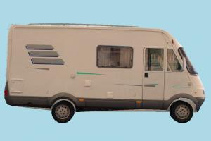 Van Low-poly van, bus, vehicle, truck, carriage, car, metro, transit, transport, cargo, low-poly