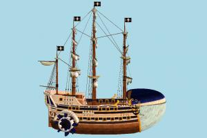 Galleon Ship galleon, pirate-ship, boat, sailboat, pirate, ship, watercraft, vessel, wooden, maritime