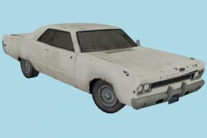 Car Old Damaged 3d Model