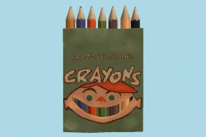 Pencils Box pencil, pen, color, pencils, colors, set, box, handpainted, cartoon, drawing, draw, painter, school, student, baby, toy, colorful, lowpoly