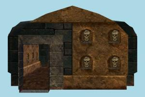 House hut, cottage, house, building, build, structure, mummy, evil, room
