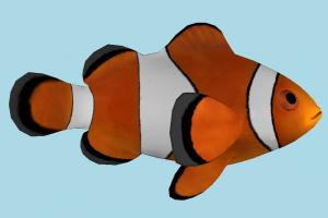 Clownfish fish, sea-creature, fishing, clown, aquarium, color, water, sea, ocean