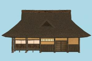 Hut House barn, farm, house, town, country, home, hut, cottage, building, build, residence, domicile, structure
