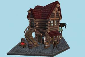 House house, home, country, farm, town, building, build, residence, domicile, structure