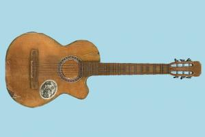 Classic Guitar guitar, music, song, romance, low-poly, object