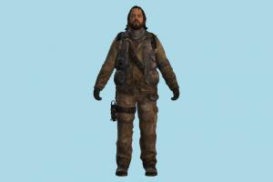 TLOU Bill joel, tlou, the_last_of_us, man, male, fighter, army, people, human, character