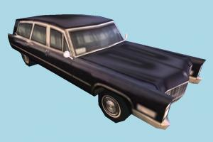 Hearse Car Low-poly hearse, car, truck, vehicle, transport, carriage, black, low-poly
