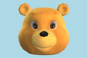 Bear Head head, face, bear, teddy, animal, animals, cartoon