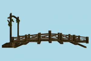 Bridge bridge, viaduct, wooden, road, way, structure
