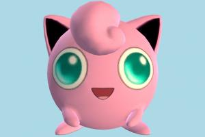 Jigglypuff Pokemon Pokemon, Pokémon, Digimon, Jigglypuff, cartoon, toon