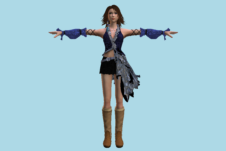 Kingdom Hearts 3 - Yuna Girl 3d model