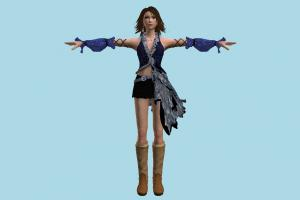 Yuna Kingdom-Hearts, KH, girl, female, woman, people, human, character, cute
