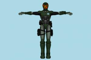 Metroid Soldier robot, mech, fighter, character