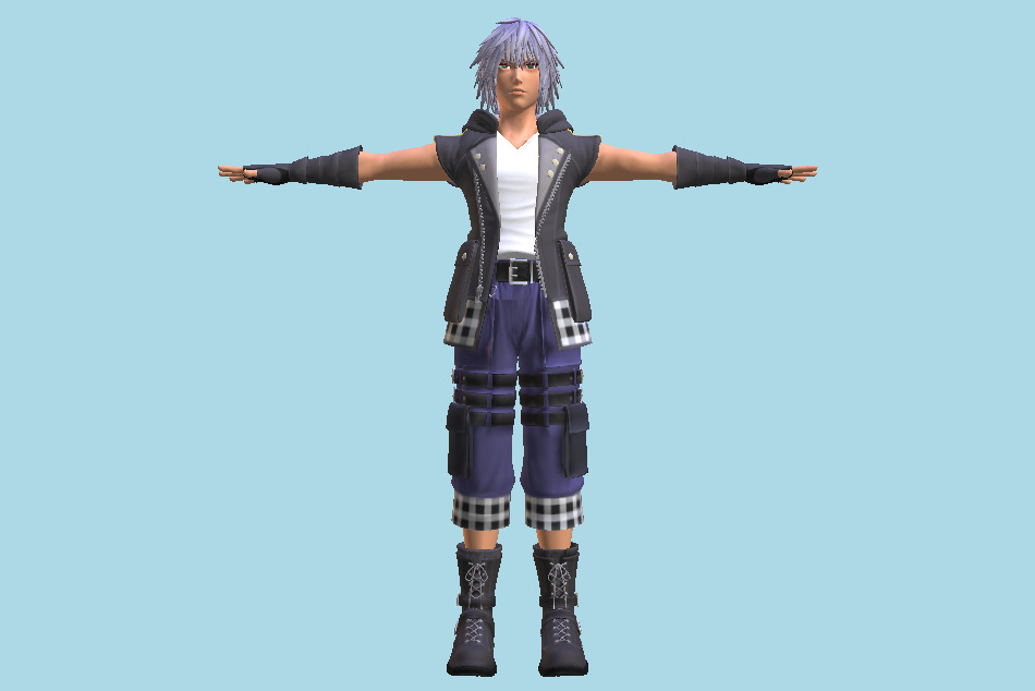 Kingdom Hearts 3 - KH3 Riku Boy 3d model