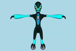 Ben 10 XLR8 Ben10, ben, ten, character, monster, cartoon