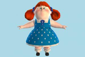 NUT JOB - Heather NUT-JOB, girl, fat, female, people, human, character, cartoon, toony