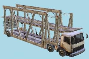 Car Transporter Trailer trailer, car, truck, transport, vehicle, carriage